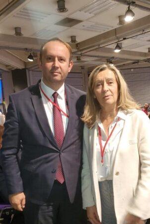 Afrim Gashi takohet me Zëvendëspresidenten e Senatit Francez, Helene Conway-Mouret