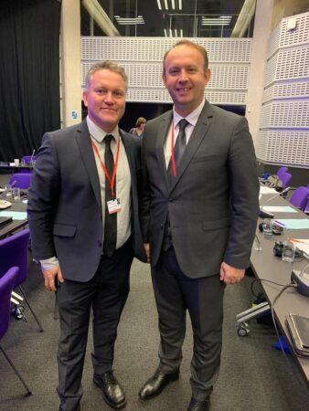Kryetari Afrim Gashi takoi deputetin e  Islandes, Njall Trausti