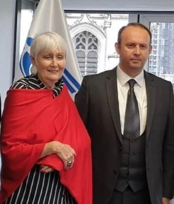 Afrim Gashi takohet me kryetaren e Asamblesë Parlamentare të NATO-s, Moon Madeleine