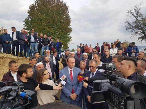 Afrim Gashi prezent në hedhjen e gurthemelit të Pallatit të Kulturës në Komunën e Bogovinës