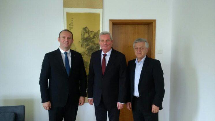 Afrim Gashi u takua me Ambasadorin Gjerman në Shkup, z. Tomas Gerberih