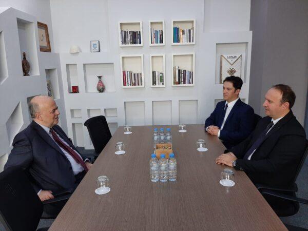 Afrim Gashi u takua me Ambasadorin Grek në Shkup, z. Dimitrij Janakakis