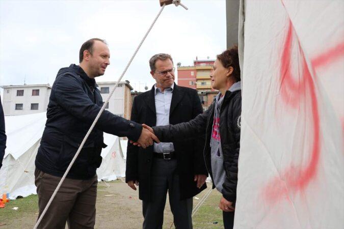 Afrim Gashi viziton zonën e prekur nga tërmeti në Shqipëri