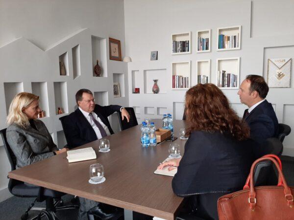 Afrim Gashi priti në takim Ambasadorin e Holandës, z. Dirk Jan Kop