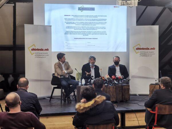 """Koalicioni Aleanca për Shqiptarët & Alternativa: U promovua fushata dhe platforma """"shtetesia.mk"""""""