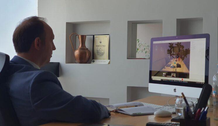 Kryetari Gashi zhvilloi takim virtual me Ambasadoren e SHBA-ve në Shkup, znj. Kate Marie Byrnes
