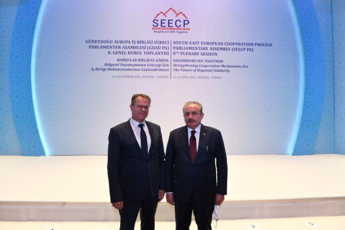 Пратеникот Хусни Исмаили се сретна со Претседателот на Турското Собрание, г. Мустафа Шентоп