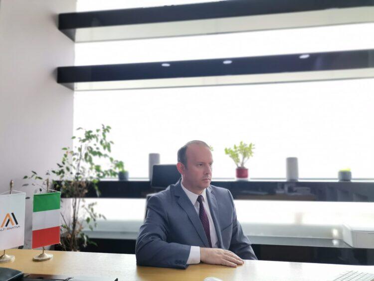 Kryetari i Alternativës, Afrim Gashi ishte pjesë e recepcionit virtual të organizuar nga  Ambasadori Italian në vend, z. Andrea Silvestri