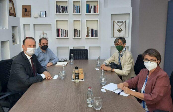 Afrim Gashi në pragë të zgjedhjeve takohet me përfaqësuesit e OSBE - ODIHR në Shkup